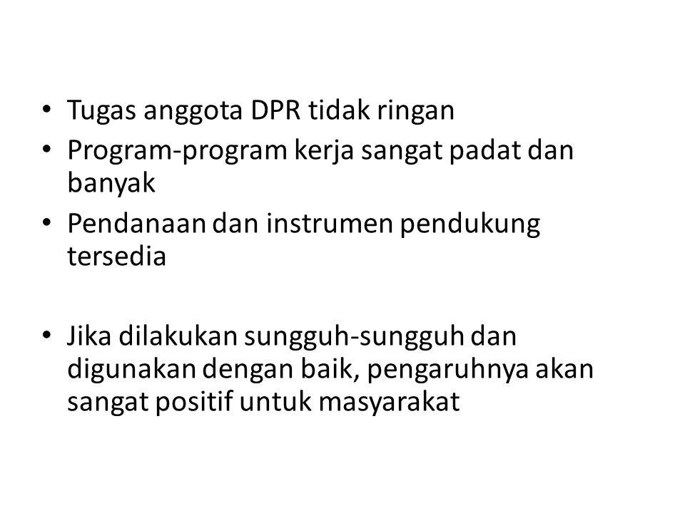 Tugas anggota DPR tidak ringan