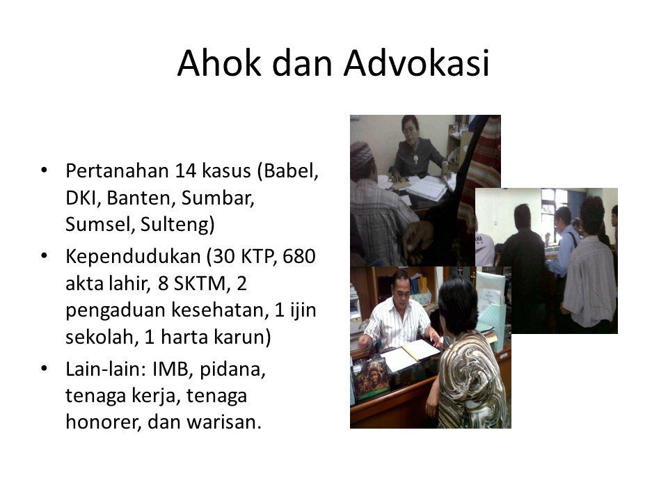 Ahok dan Advokasi Pertanahan 14 kasus (Babel, DKI, Banten, Sumbar, Sumsel, Sulteng)