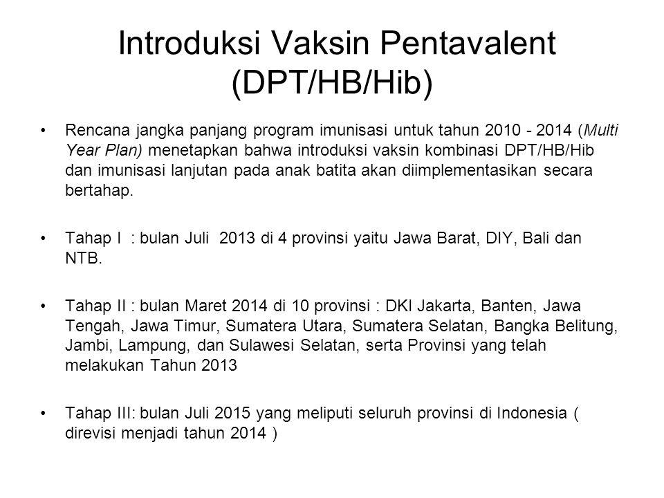 Introduksi Vaksin Pentavalent (DPT/HB/Hib)