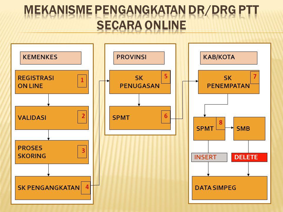 MEKANISME PENGANGKATAN DR/DRG PTT SECARA ONLINE