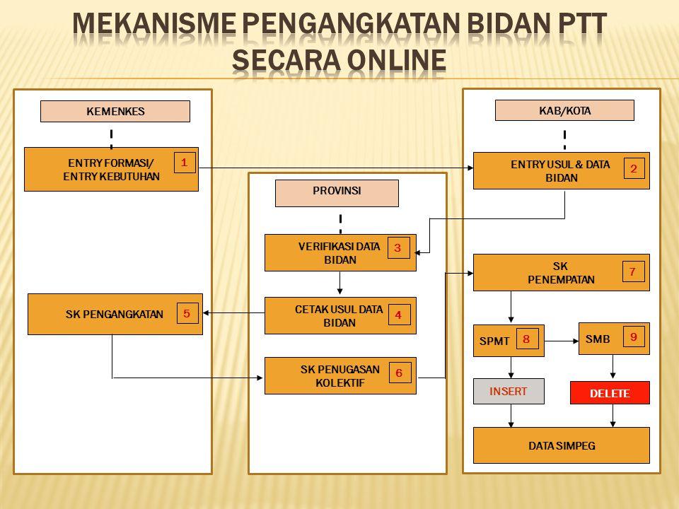 MEKANISME PENGANGKATAN BIDAN PTT SECARA ONLINE