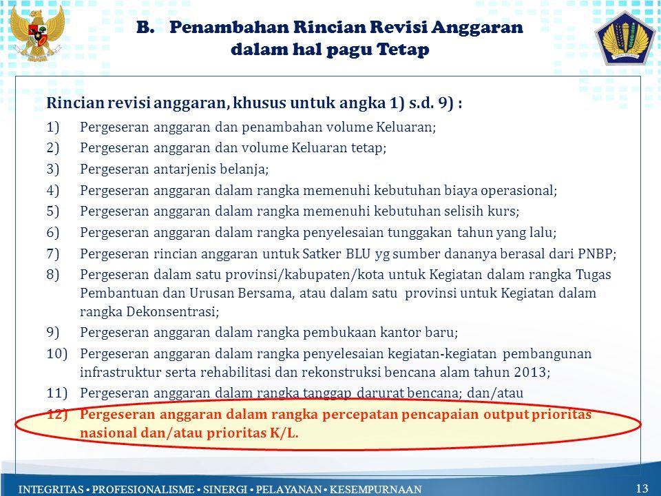 Penambahan Rincian Revisi Anggaran