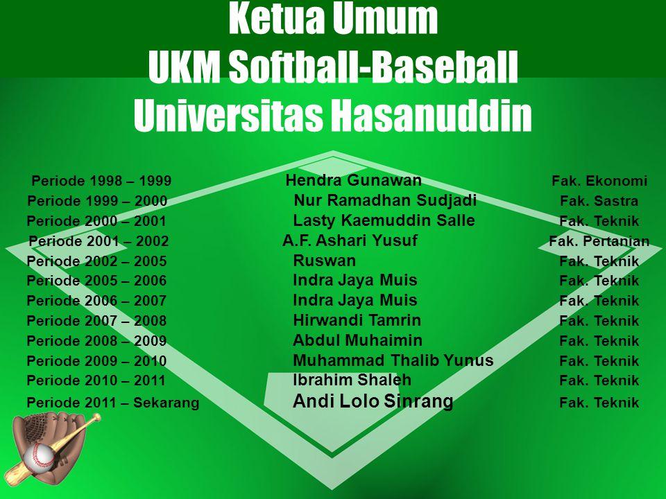 Ketua Umum UKM Softball-Baseball Universitas Hasanuddin
