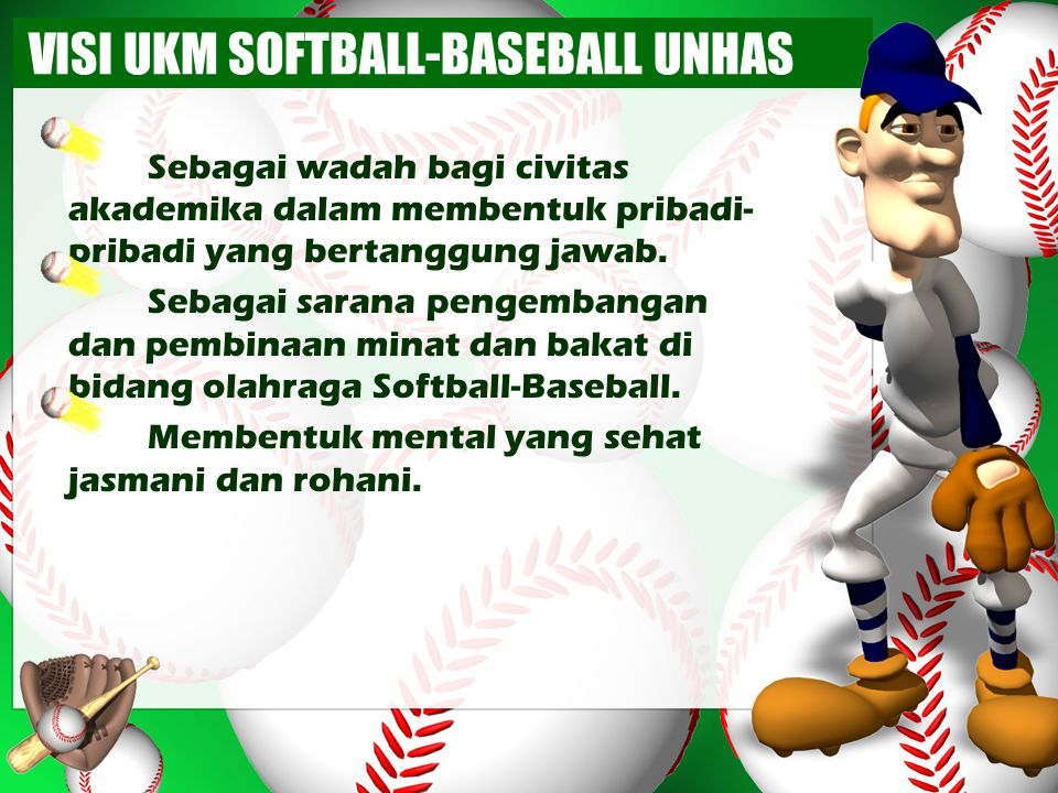 VISI UKM SOFTBALL-BASEBALL UNHAS