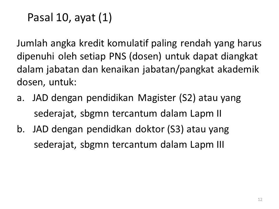 Pasal 10, ayat (1)