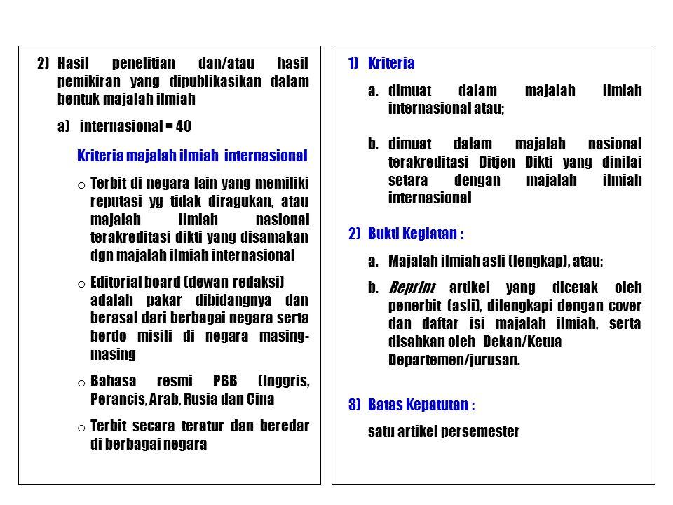Kriteria majalah ilmiah internasional