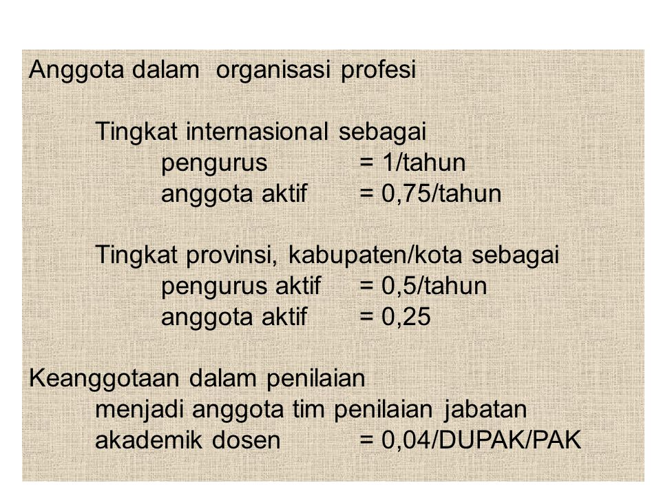 Anggota dalam organisasi profesi