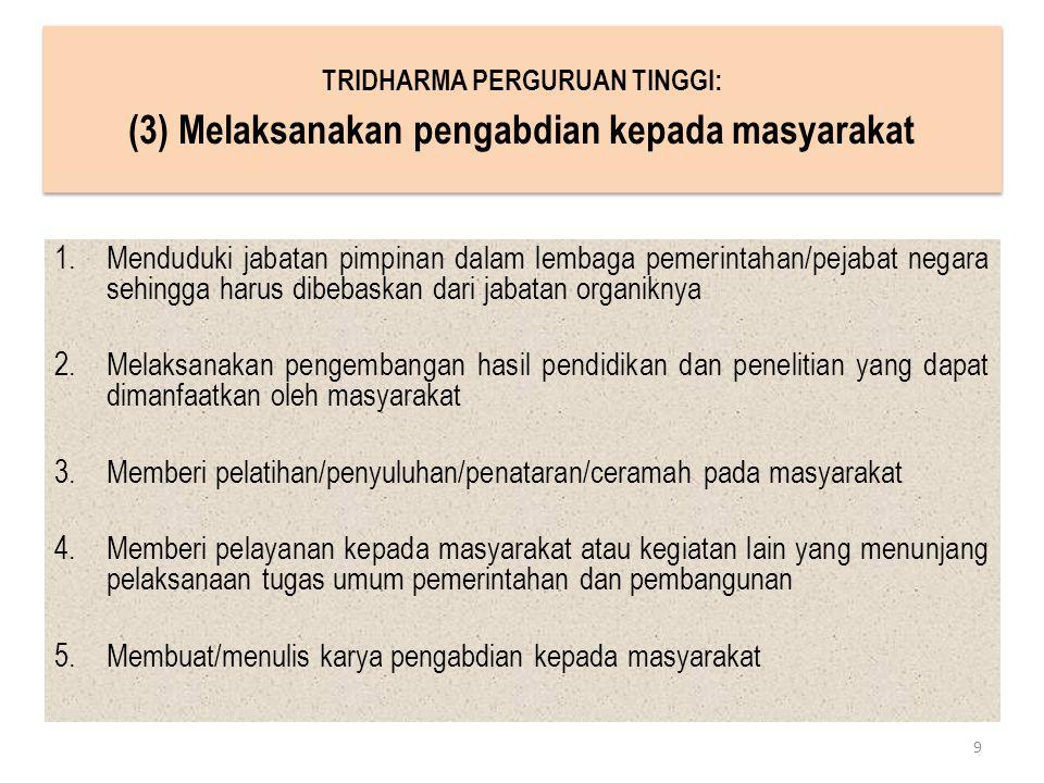 (3) Melaksanakan pengabdian kepada masyarakat