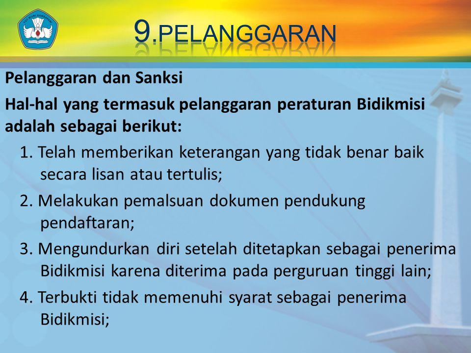 9.PELANGGARAN Pelanggaran dan Sanksi