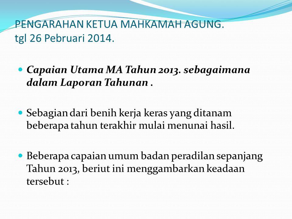 PENGARAHAN KETUA MAHKAMAH AGUNG. tgl 26 Pebruari 2014.