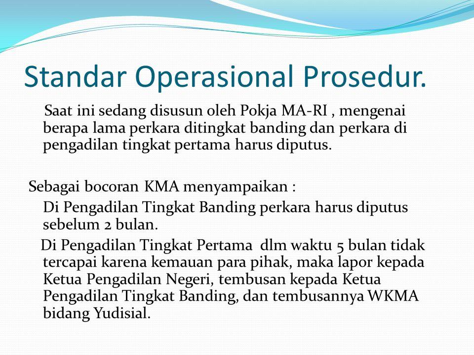 Standar Operasional Prosedur.