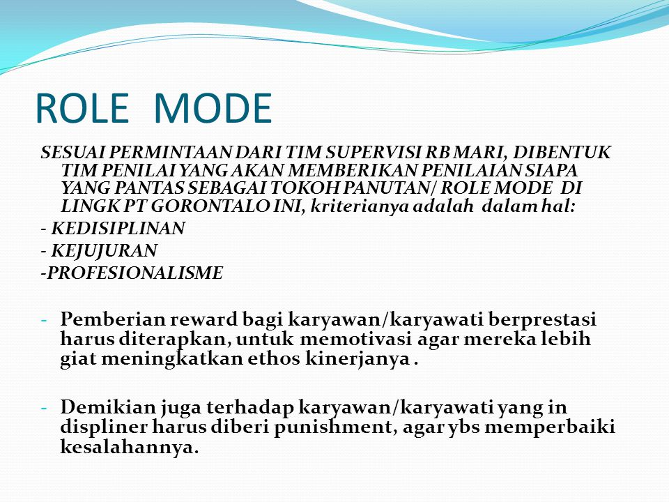 ROLE MODE