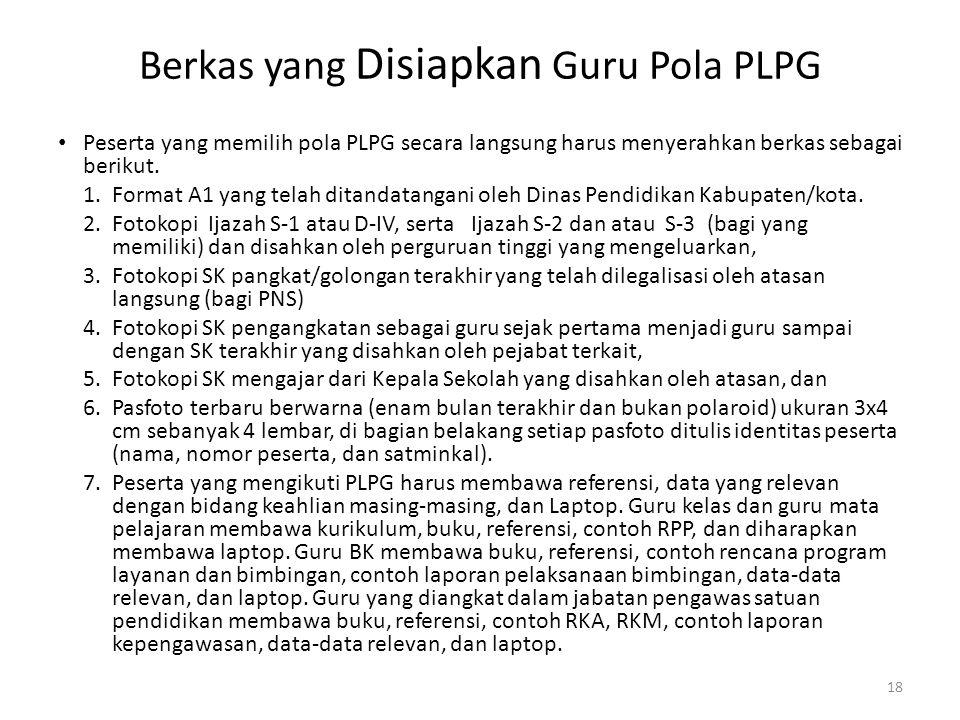 Berkas yang Disiapkan Guru Pola PLPG