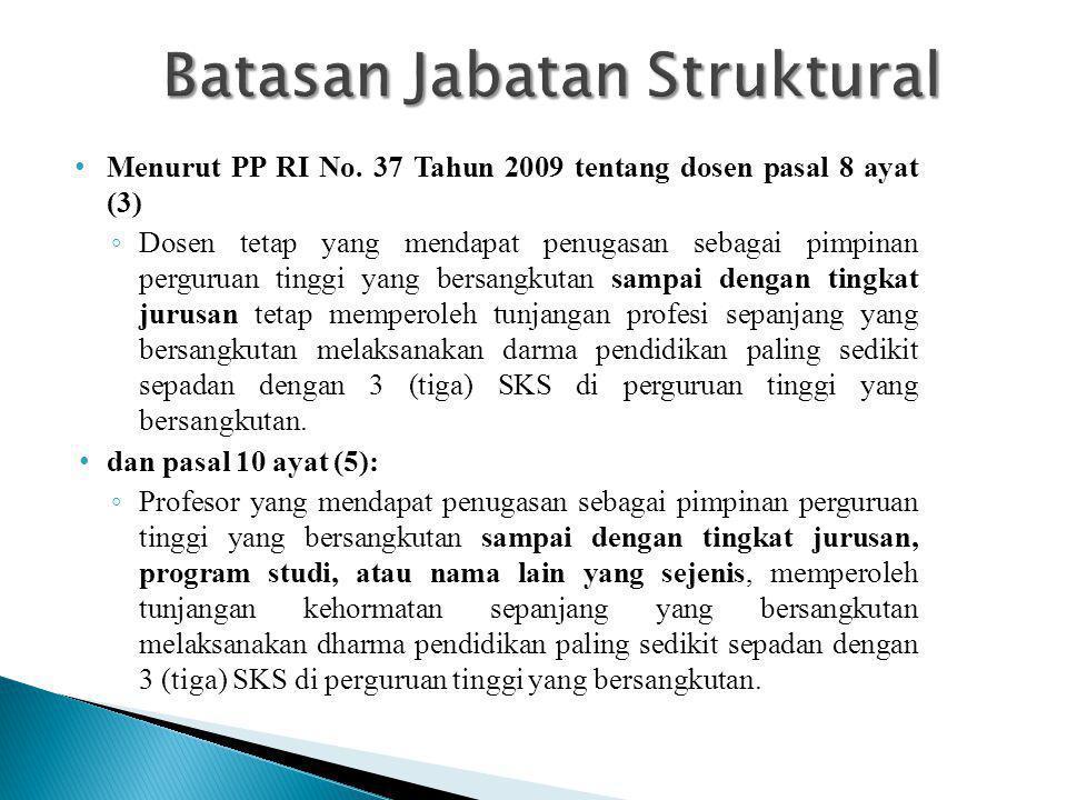 Batasan Jabatan Struktural