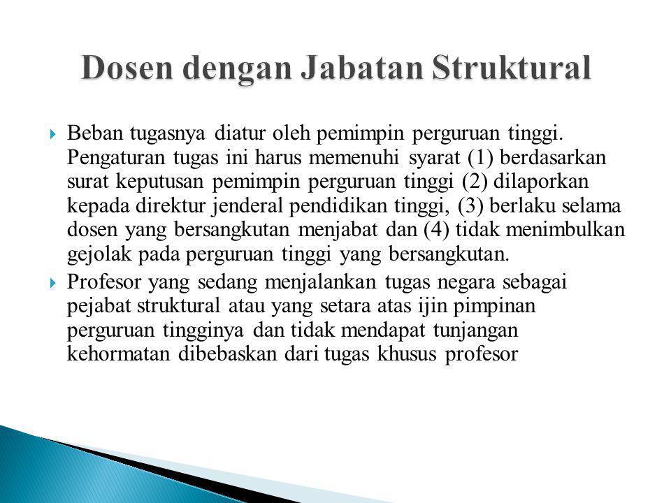 Dosen dengan Jabatan Struktural