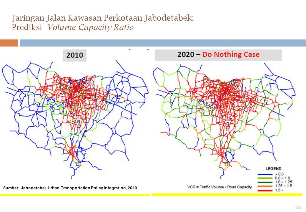 Jaringan Jalan Kawasan Perkotaan Jabodetabek: Prediksi Volume Capacity Ratio