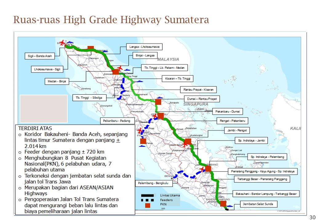 Ruas-ruas High Grade Highway Sumatera