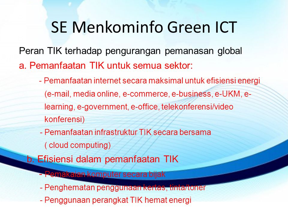 SE Menkominfo Green ICT