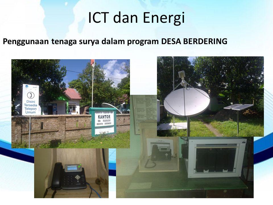 ICT dan Energi Penggunaan tenaga surya dalam program DESA BERDERING