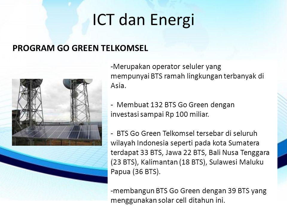 ICT dan Energi PROGRAM GO GREEN TELKOMSEL