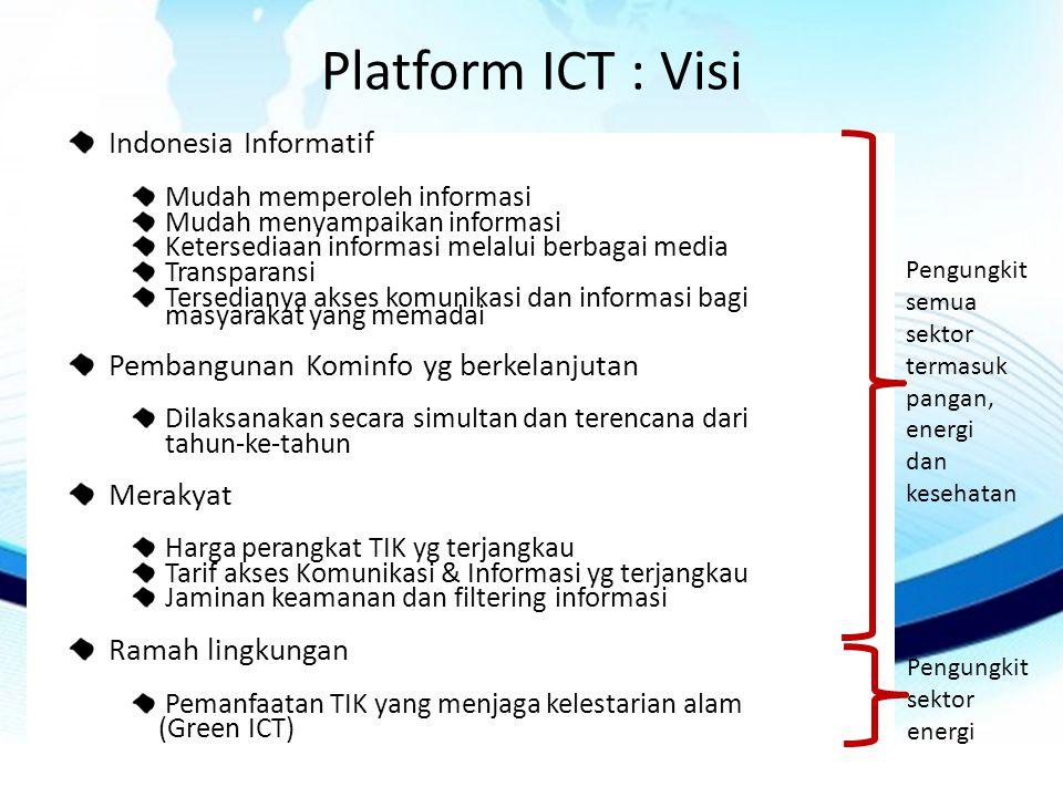 Platform ICT : Visi Indonesia Informatif
