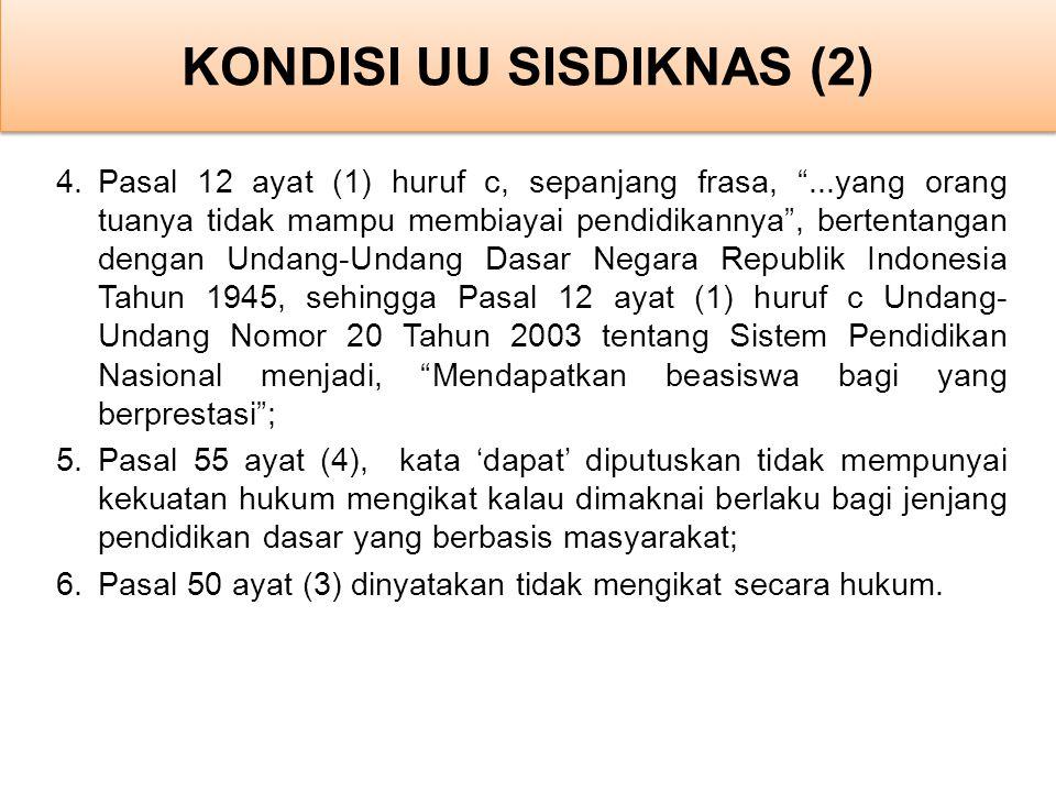 KONDISI UU SISDIKNAS (2)