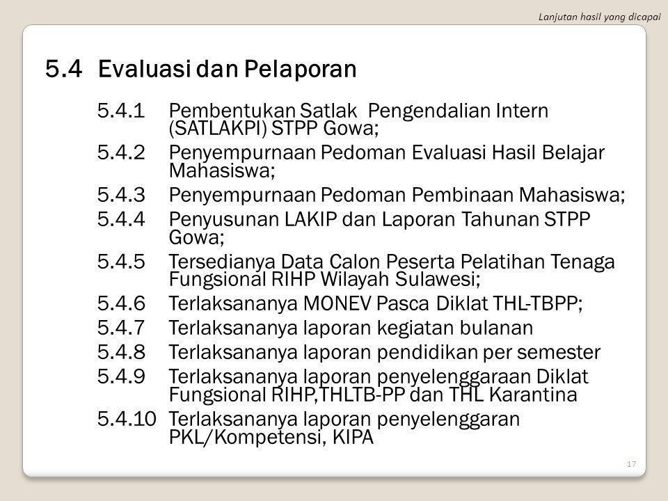 5.4 Evaluasi dan Pelaporan