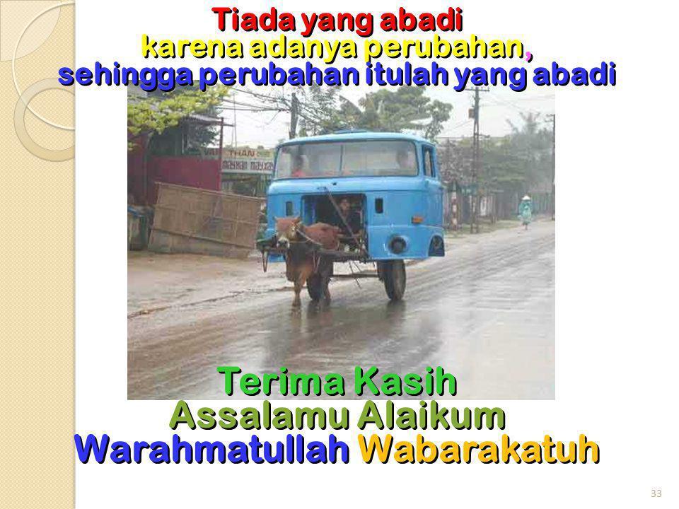 Terima Kasih Assalamu Alaikum Warahmatullah Wabarakatuh