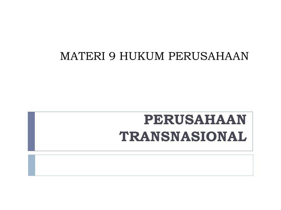 MATERI 9 HUKUM PERUSAHAAN