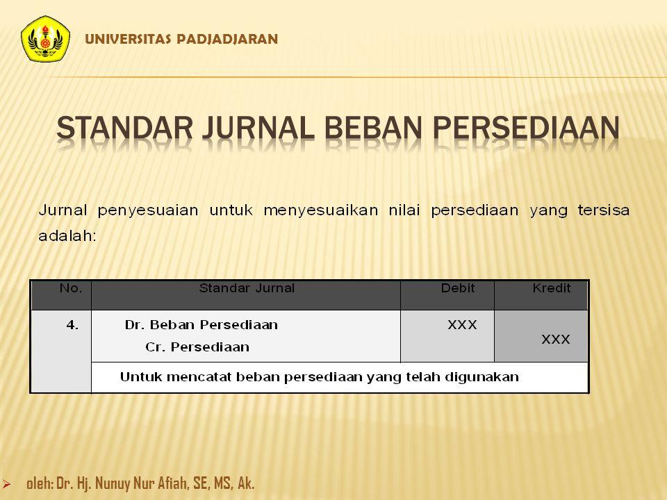 STANDAR JURNAL BEBAN PERSEDIAAN