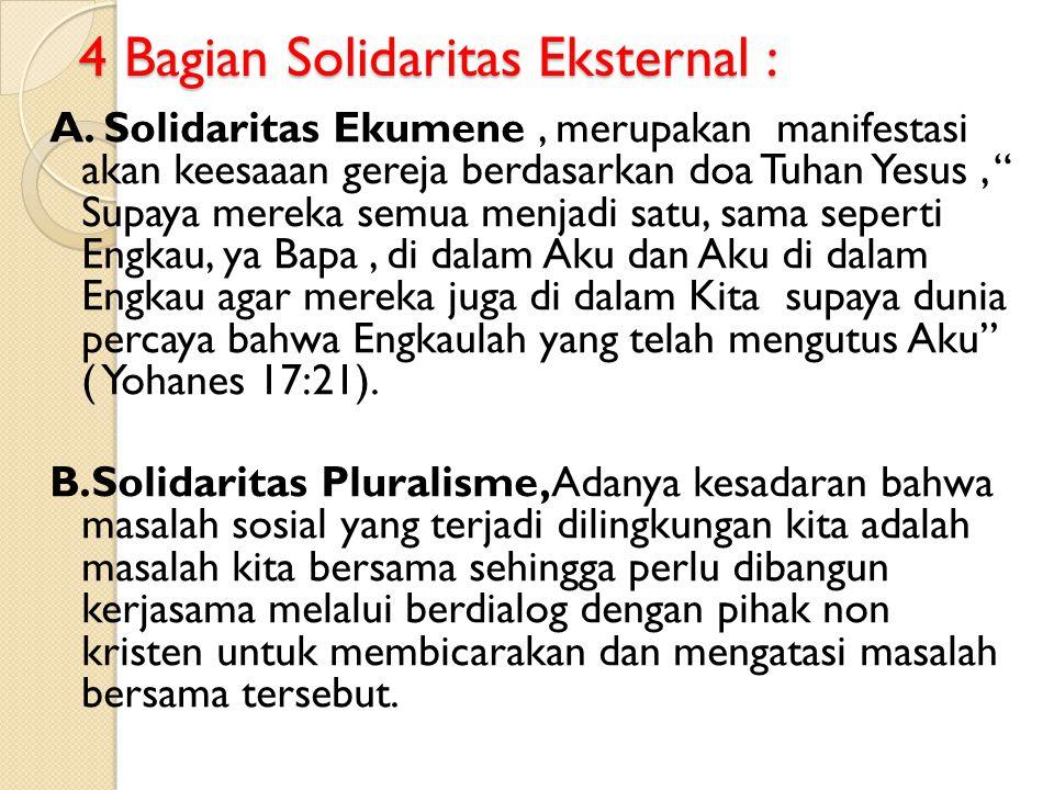 4 Bagian Solidaritas Eksternal :