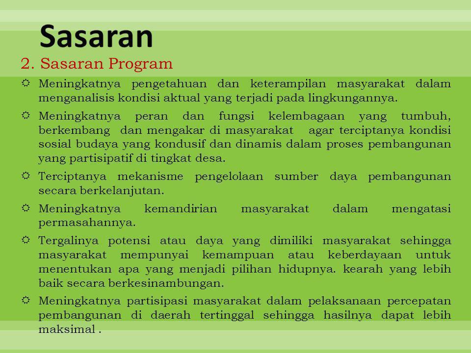Sasaran 2. Sasaran Program