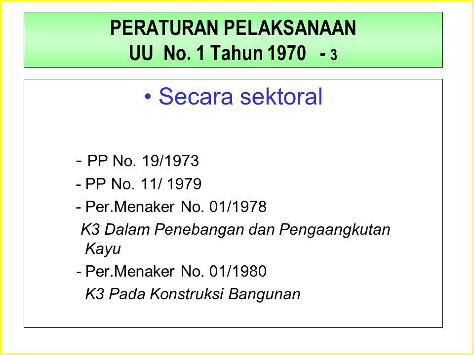 PERATURAN PELAKSANAAN UU No. 1 Tahun 1970 - 3