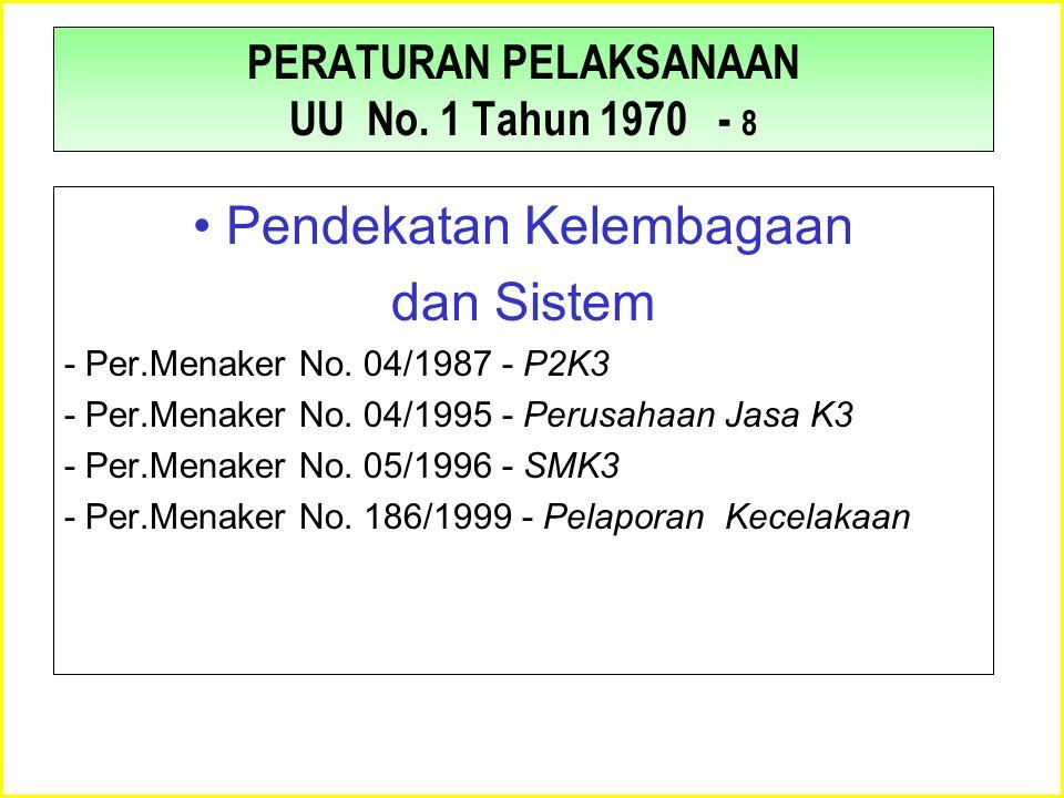PERATURAN PELAKSANAAN UU No. 1 Tahun 1970 - 8
