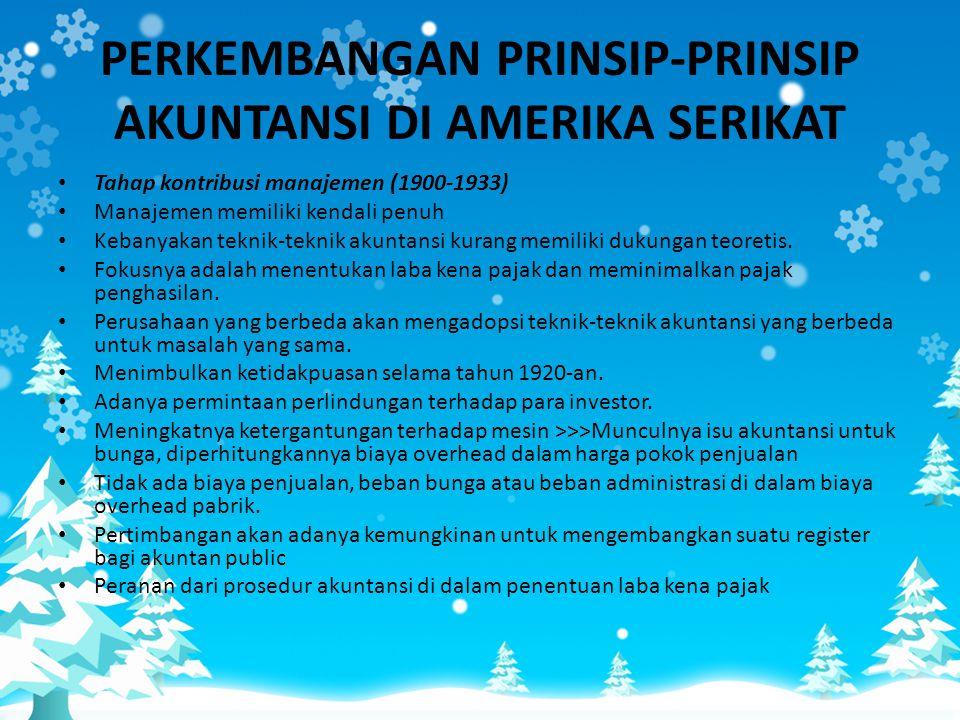 PERKEMBANGAN PRINSIP-PRINSIP AKUNTANSI DI AMERIKA SERIKAT