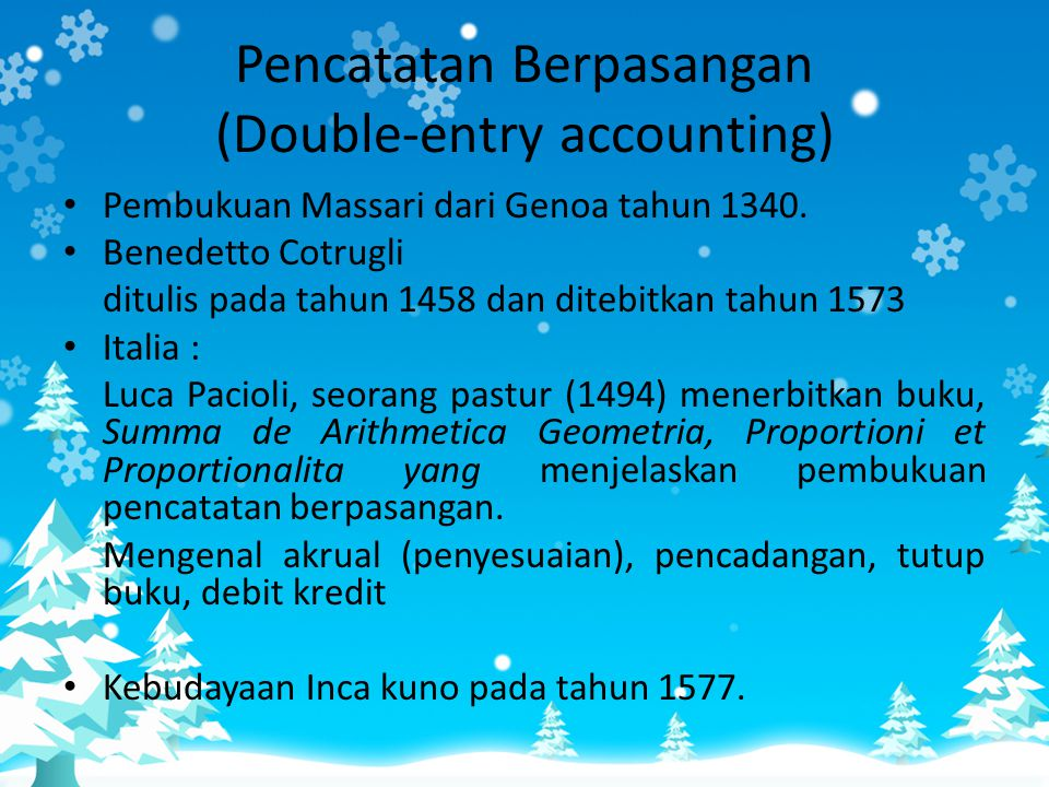 Pencatatan Berpasangan (Double-entry accounting)