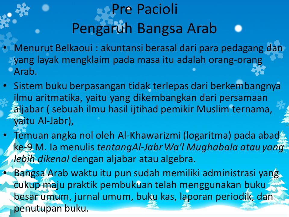 Pre Pacioli Pengaruh Bangsa Arab