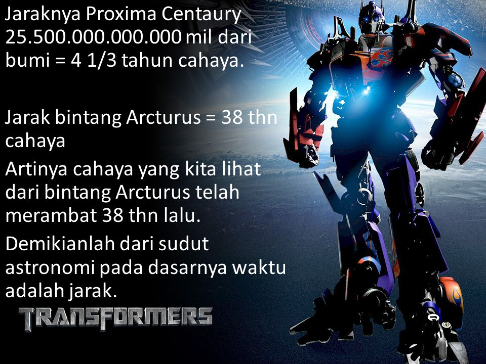 Jaraknya Proxima Centaury 25. 500. 000. 000