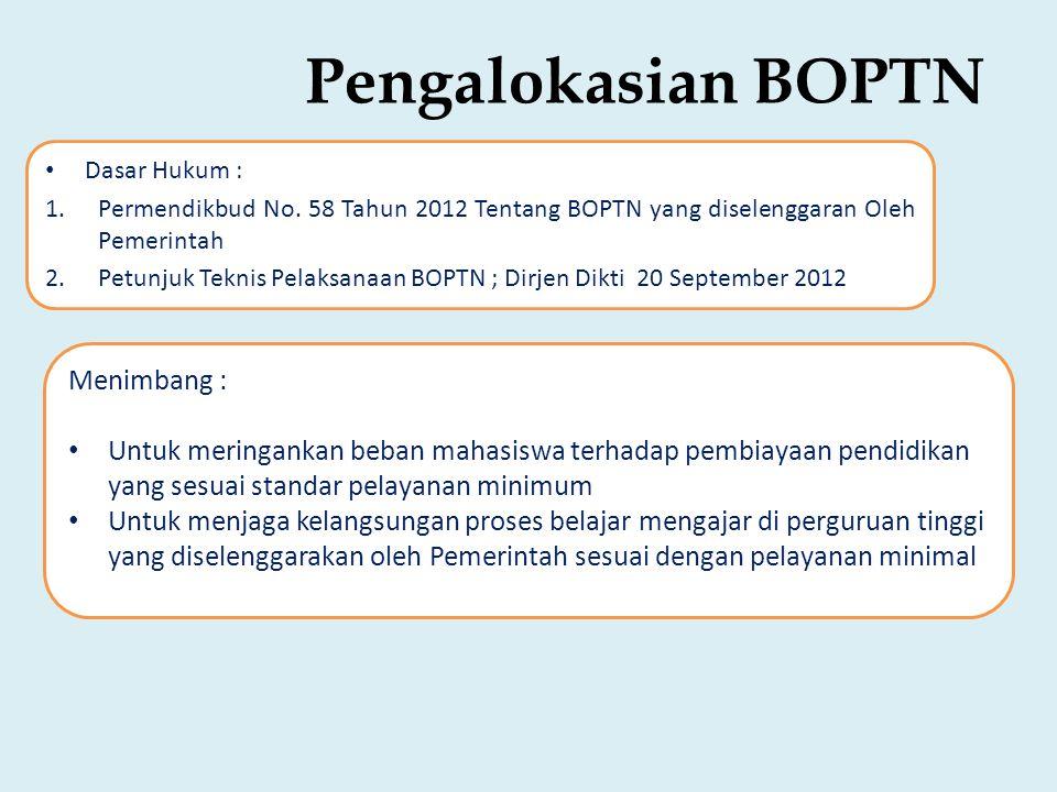 Pengalokasian BOPTN Menimbang :
