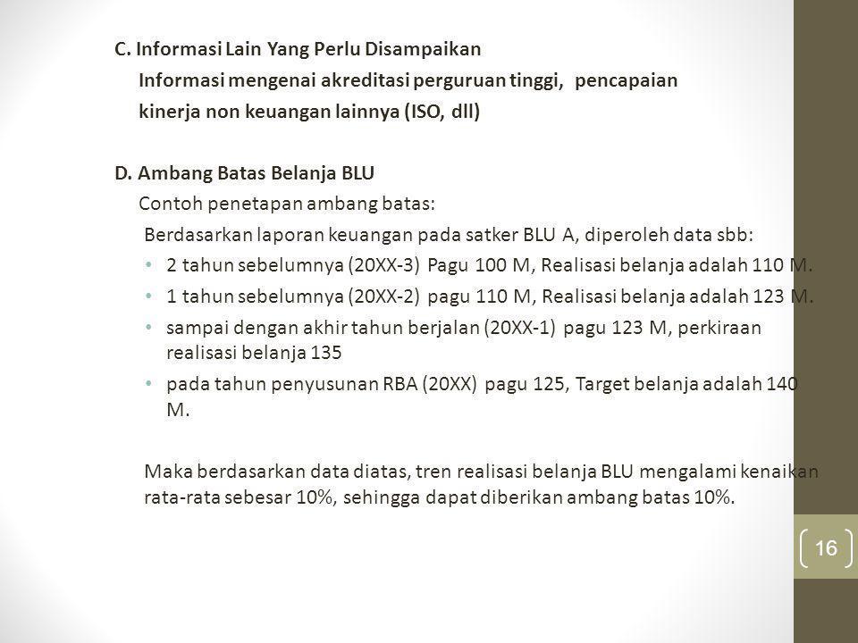 C. Informasi Lain Yang Perlu Disampaikan