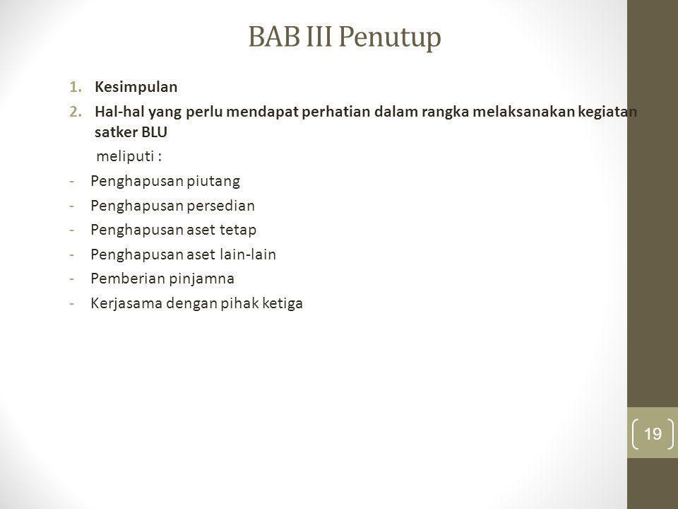 BAB III Penutup Kesimpulan