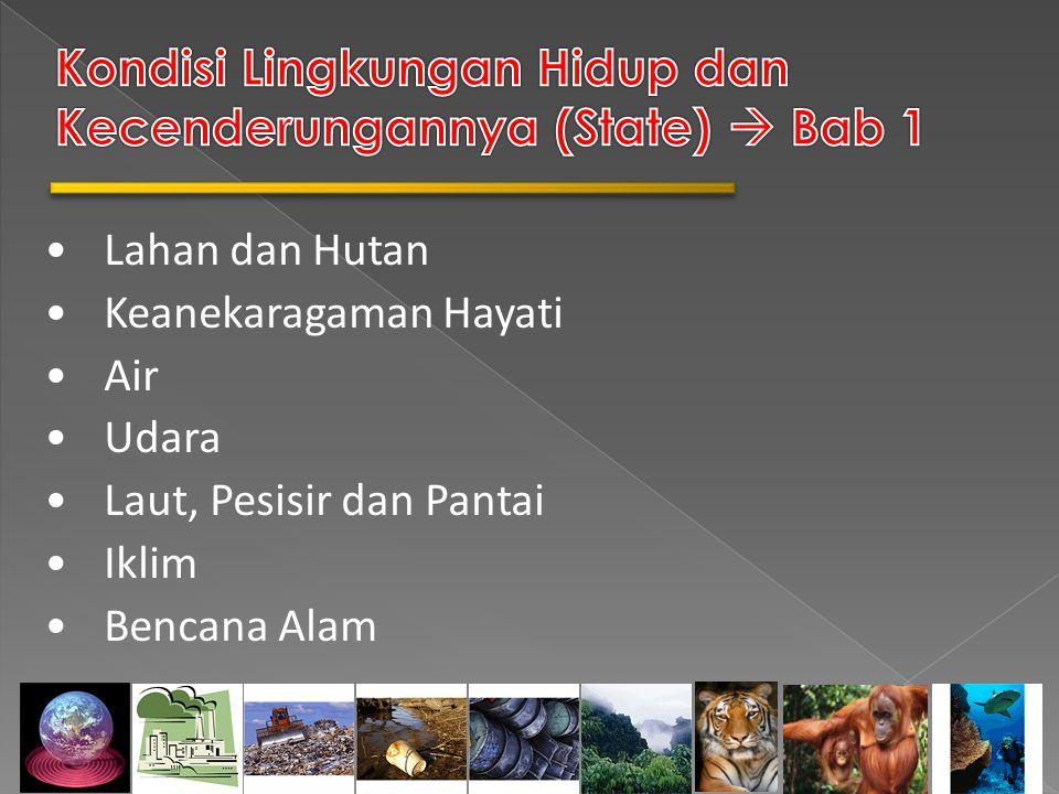 Kondisi Lingkungan Hidup dan Kecenderungannya (State)  Bab 1