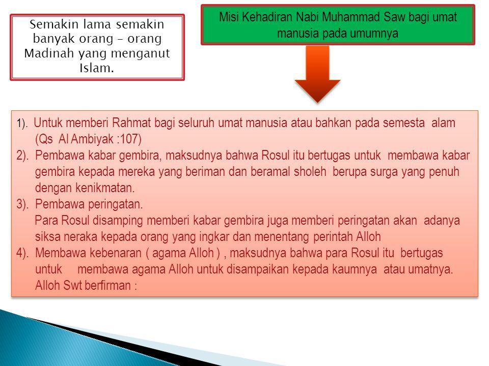 Misi Kehadiran Nabi Muhammad Saw bagi umat manusia pada umumnya