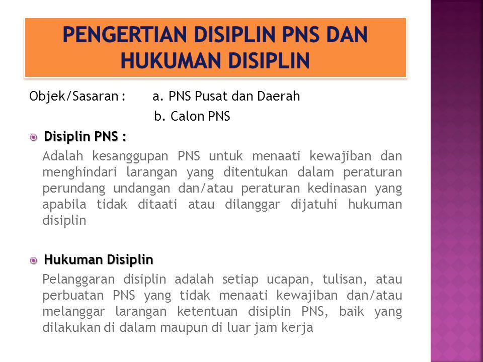 Pengertian disiplin pns dan hukuman disiplin