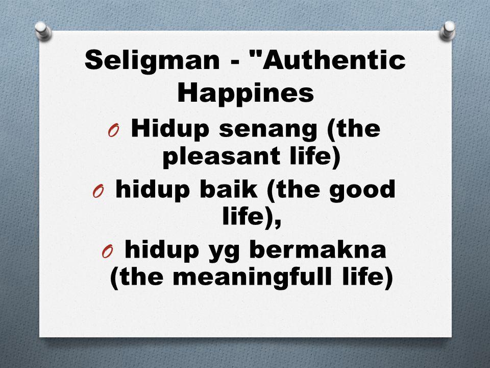 Seligman - Authentic Happines