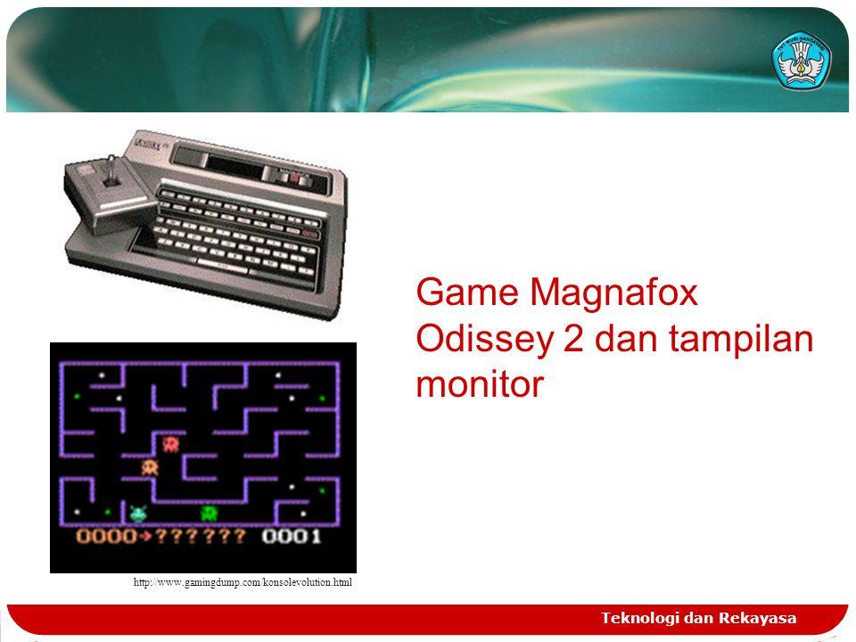 Game Magnafox Odissey 2 dan tampilan monitor