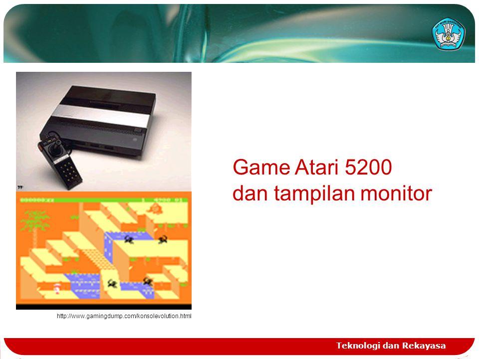 Game Atari 5200 dan tampilan monitor