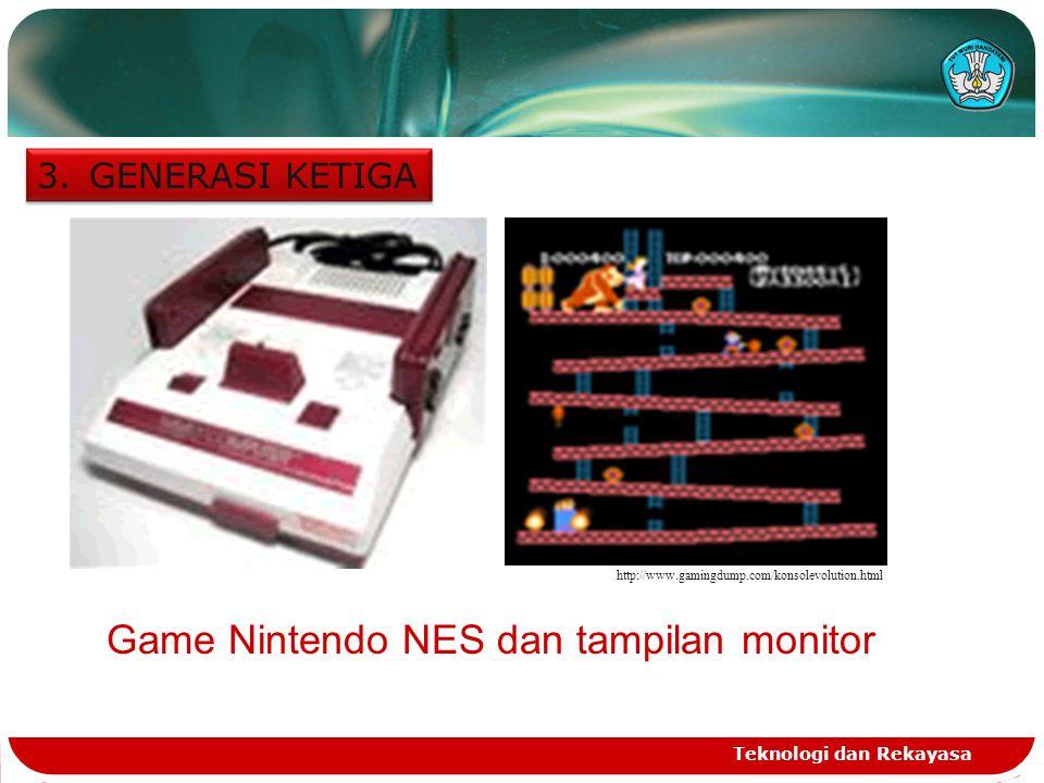 Game Nintendo NES dan tampilan monitor