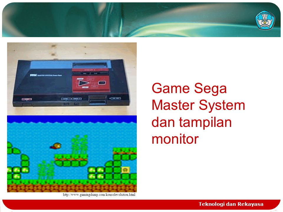 Game Sega Master System dan tampilan monitor