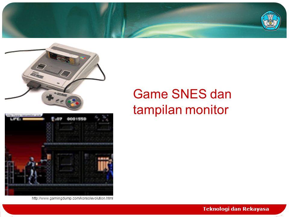 Game SNES dan tampilan monitor